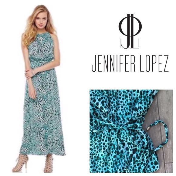 17eaf3e37e2b Jennifer Lopez Dresses & Skirts - Jennifer Lopez Leopard Print Maxi Dress